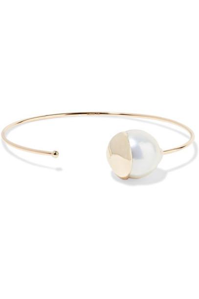Mizuki cuff pearl gold jewels