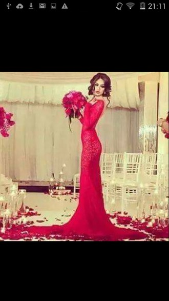 dress reddress promdress wedding dress gorgeous dress