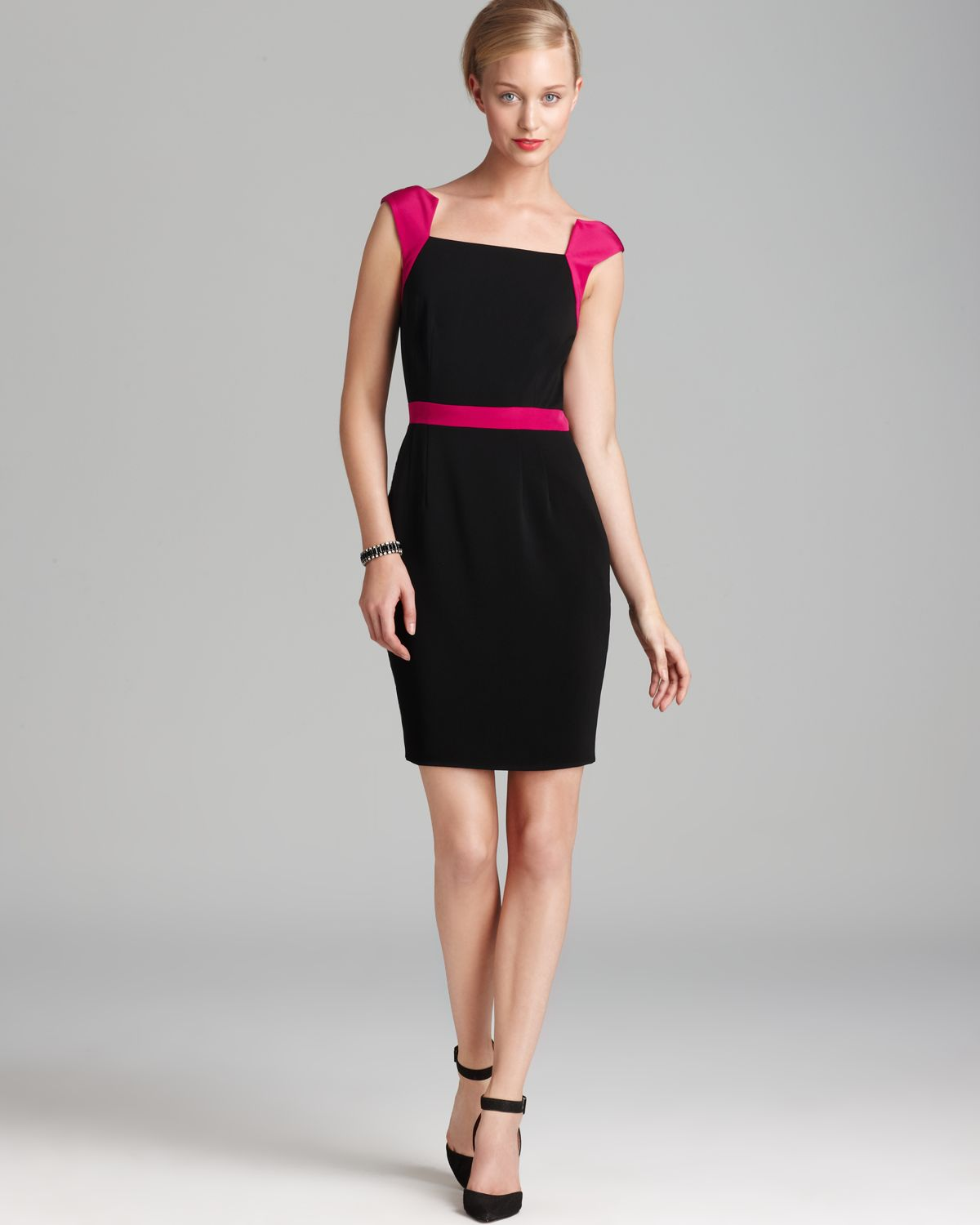 Jay Godfrey Contrast Strap Sheath Dress - Vantage | Bloomingdale's