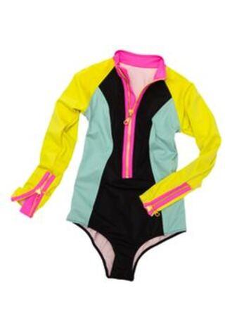 swimwear neoprene fluor one piece swimsuit
