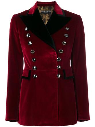blazer women spandex cotton red jacket