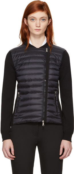 moncler jacket quilted black