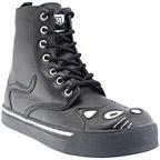 TUK Kitty Combat Boots Black Ladies Boots