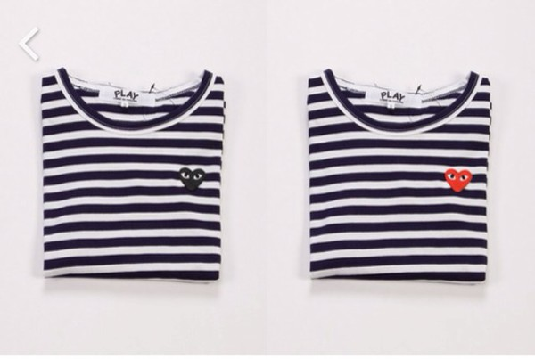 instagram hipster dope cdg t-shirt stripes indie