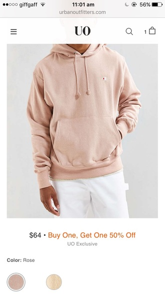 sweater hoodie urban outfitters champagne mens sweater