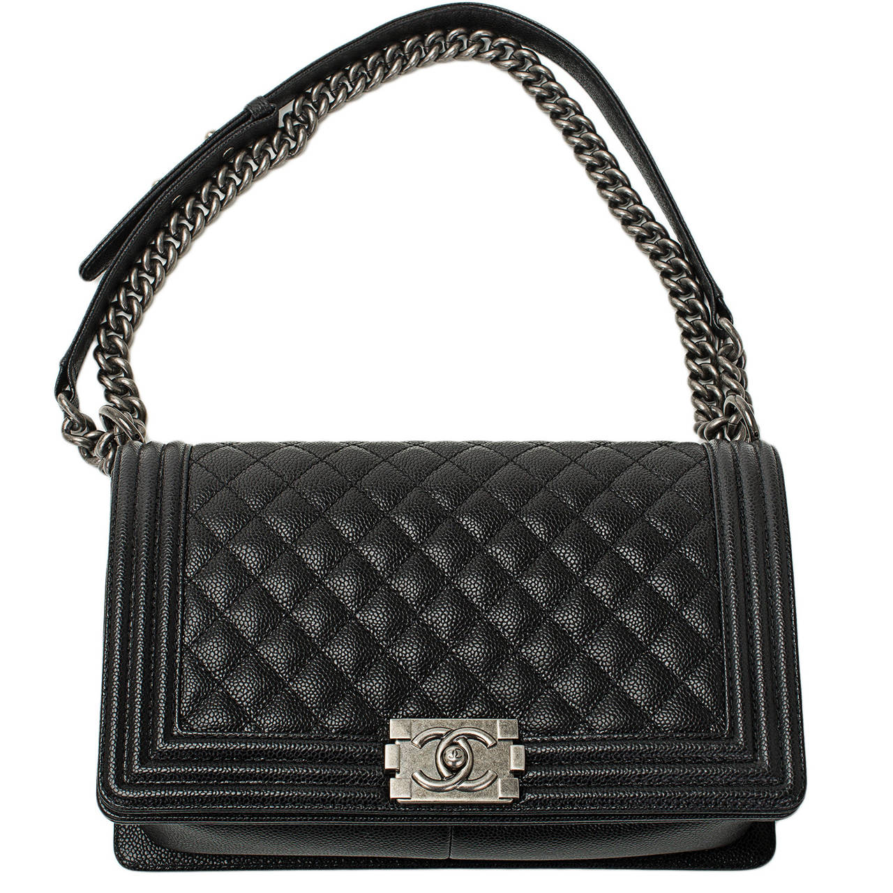 Super Black Caviar New Medium Boy Bag | 1stdibs.com AM26