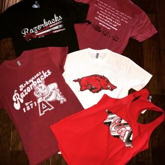tank top razorback red football shirts
