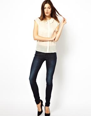 Dr Denim | Dr Denim Regina High Waist Skinny Jeans at ASOS