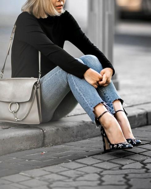 72dd58cc2 shoes tumblr pumps high heel pumps high heels stars ankle strap heels ankle  strap denim jeans