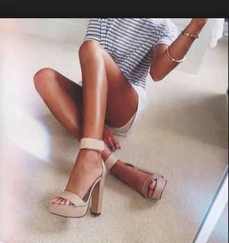 shoes nude shoes nude high heels nude sandals t-shirt