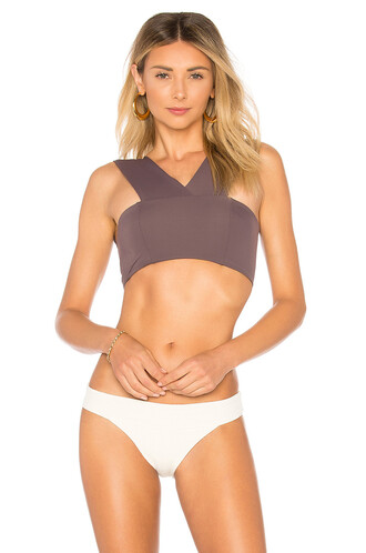 bikini bikini top purple swimwear
