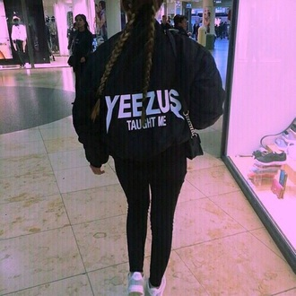 jacket black sweater yeezus grunge sweater bomber jacket hipster tumblr jacket instagram