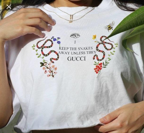 shirt gucci snakes