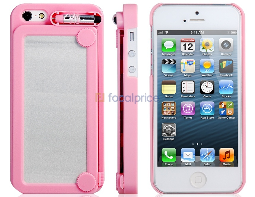 Writing Board Protective Case for iPhone 5 (Pink) - IP2513P