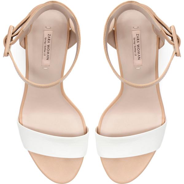 Zara Mid-Heel Sandals - Polyvore