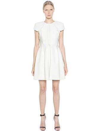 dress pleated cotton white
