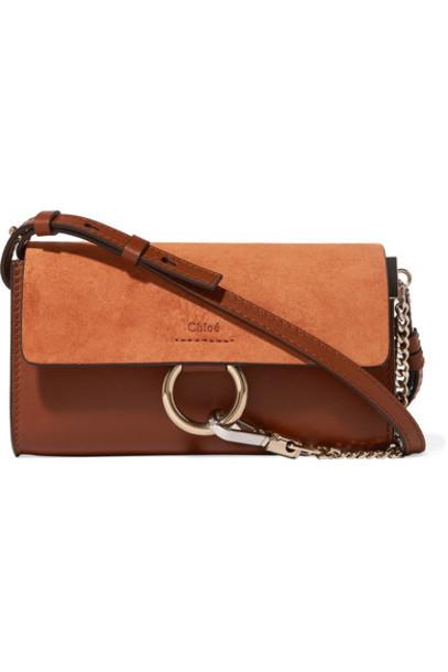 mini tan bag shoulder bag leather suede
