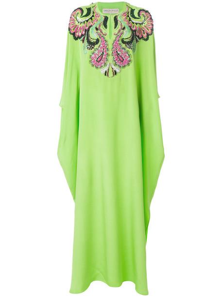 dress embellished dress women embellished silk green