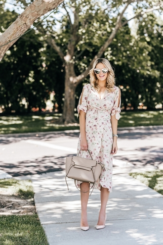 ivory lane blogger dress shoes sunglasses bag jewels handbag summer outfits midi dress summer dress pumps