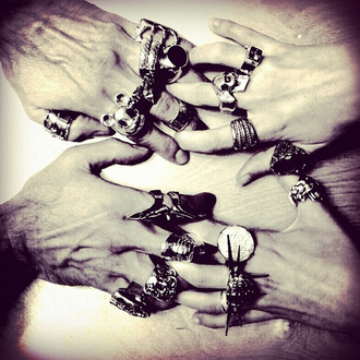 jewels ann demeulemeester ring big rings goth silver vivienne westwood