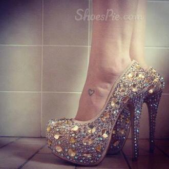 shoes cute jewelry pink heels high heels glitters tumblr chanel victoria's secret