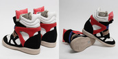 high top sneakers,sneakers,isabel marant,shoes