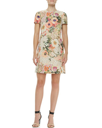 Tory Burch Kaley Floral Tweed Dress - Neiman Marcus