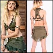 skirt,fairy floss,alternative,steampunk,hippie,bohemian,grunge,gypsy,green skirt,mini skirt,byron bay,music festival,doof,music festival outfit,summer,summer outfits