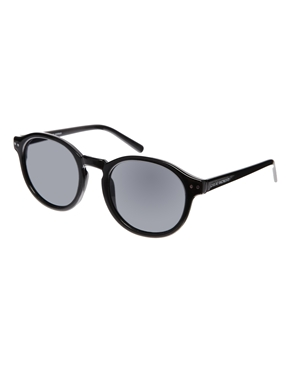8323a9b0ad90 Cheap Monday | Cheap Monday Round Sunglasses in Black at ASOS