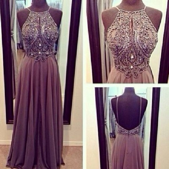 dress prom dress long prom dresses brown dress jewels
