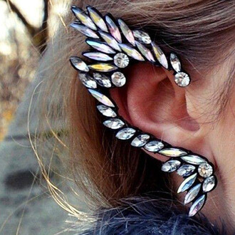 elf diamanté ear cuff jewels