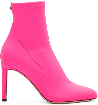 neon pink shoes