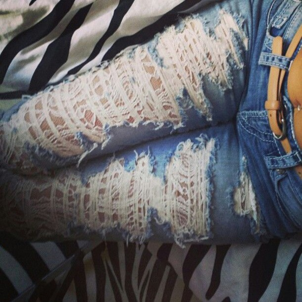 jeans ripped ripped light blue