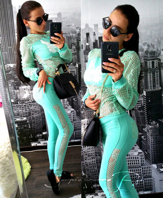 tracksuit turquoise