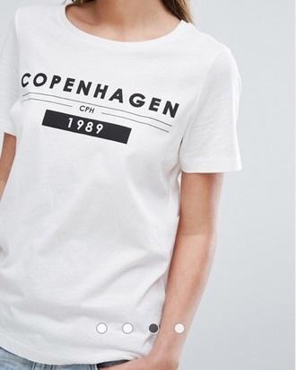 shirt copenhaguen city white