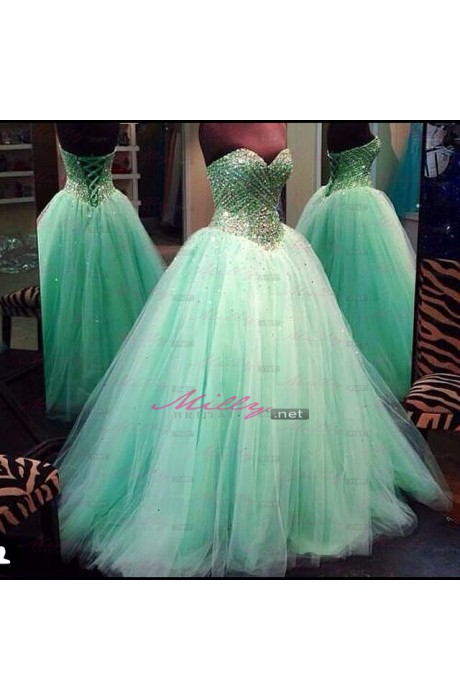 Buy dream ball gown floor length blue prom dress at millybridal.net