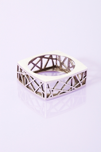 Square cage bangle  in  lookbooks in the mood at nasty gal