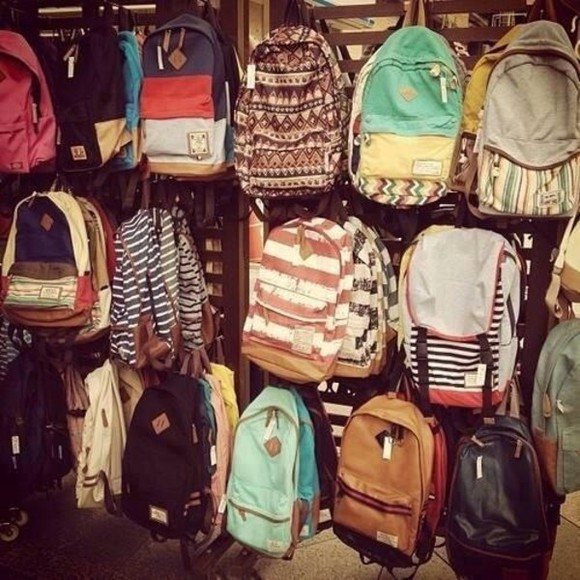 bag baby blue backpack back to school blue green american flag skater boy girl red yellow cool print hipster back to school backpack colours colourfull
