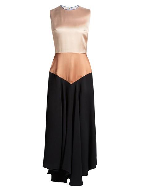 Roksanda dress sleeveless satin black