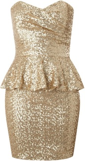 dress,clothes,gold,sequin dress,gold sequins,sequins