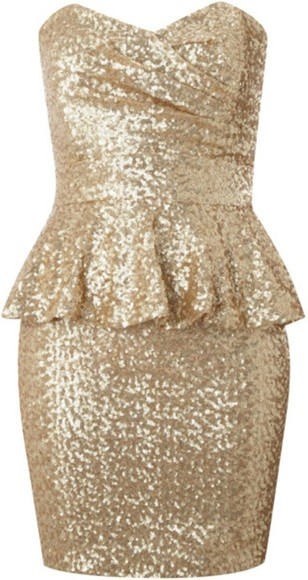 dress sequin dress clothes gold golden gold sequins sequined sequins