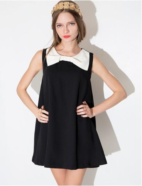 a2ad21b13391 dress bow dress little black dress little black dress swing dress cute summer  summer dress spring