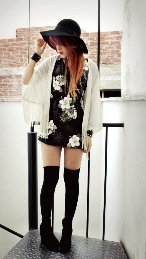 jacket cardigan shrug dress mini floral fringes le happy white jacket black jacket brown jacket grey jacket
