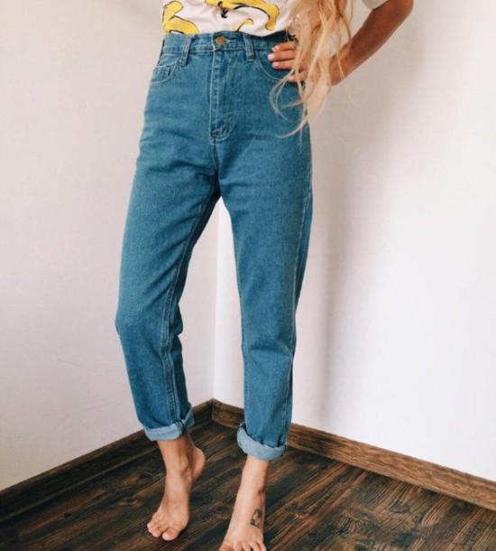 4cdbef6c11ff Dqr pants denim vintage high waisted jeans high waisted tumblr jpg 550x610  Vintage high waisted jeans