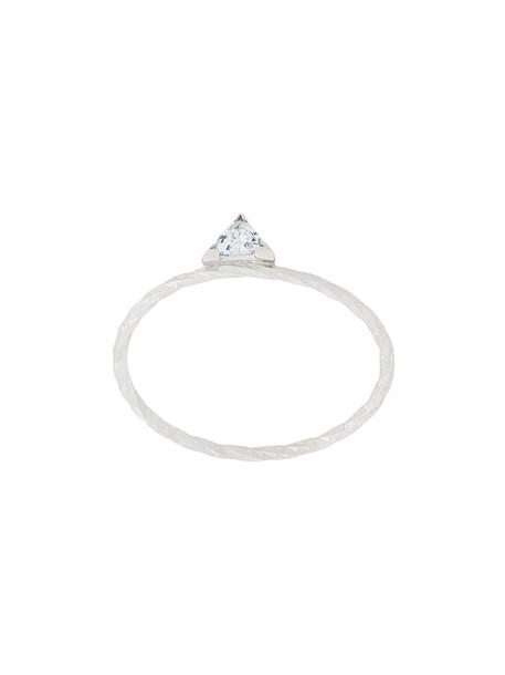 Maria Black women ring gold white grey metallic jewels
