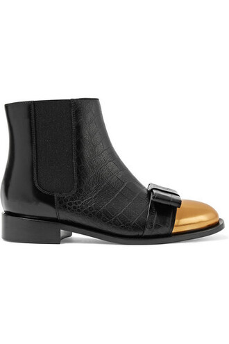 boots chelsea boots leather black shoes