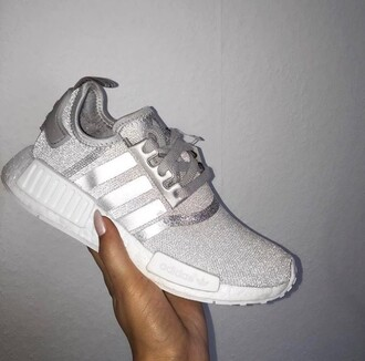 shoes adidas adidas nmd shoes glitter glitter shoes nmd r1 silver adidas zx grey tendance adidas originals adidas nmd sparkle sparkly shoes girly hot women paris new year's eve christmas milan fashion week 2016 new york city london fashion week 2016 brazil