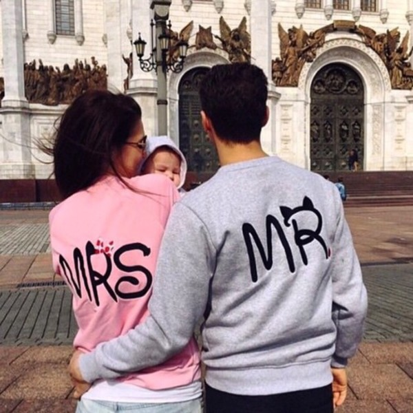 Shirt Matching Set Pink White Mr And Mrs Sweatshirts