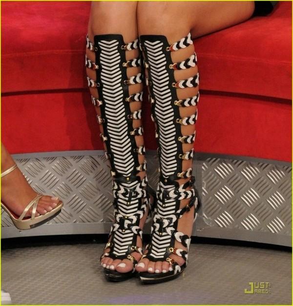 shoes heels platform high heels black and white