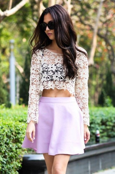 long sleeves see through top white top long sleeve crop top long sleeves lace top
